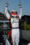 Kyle Marcelli celebrating his LMPC class win