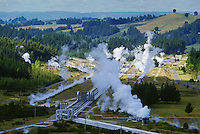 Geothermal electrical power station at Wairakei, New Zealand.