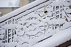 Jan. 22, 2013; Main Building steps after a snowfall...Photo by Matt Cashore/University of Notre Dame