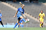 30 August 2013: Duke's Rebecca Quinn (CAN). The Duke University Blue Devils played the Kennesaw State University Owls at Fetzer Field in Chapel Hill, NC in a 2013 NCAA Division I Women's Soccer match. Duke won 1-0.