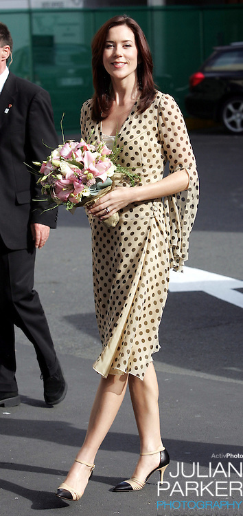 Crown Prince Frederik & Crown Princess Mary of Denmark visit Australia..Arriving at Wrest Point Casino in Hobart for a State Reception..