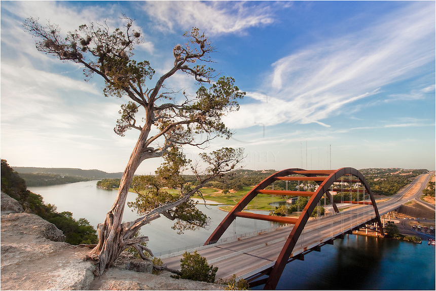 I love being up above Pennybacker Bridge in the early morning and seeing the Austin skyline to the south and the Texas Hill Country to the north and west. This image overlooking 360 and the Austin Bridge was taken a little after sunrise.