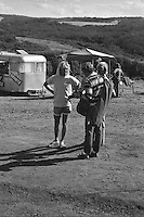Terry Richardson (AUS) and Phil Byrne (AUS) during the  running of the 1976 Rip Curl Pro, Bells Beach, Torquay, Victoria, Australia. Easter 1976.Photo:  joiliphotos.com
