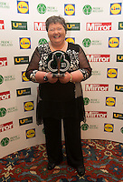 19/05/2015 <br />  Mary Arrigan-Langan with her award<br /> during the Irish mirror pride of Ireland awards at the mansion house, Dublin.<br /> Photo: gareth chaney Collins