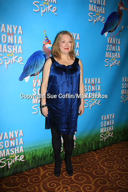 """Kristine Nielsen stars iin Broadway's """"Vanya and Sonia and Masha and Spike"""" which had its opening night on March 14, 2013 at the Golden Theatre, New York City, New York.  (Photo by Sue Coflin/Max Photos)"""