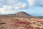 View of Mountana Roja, Nr Corralejo, Fuerteventura, Canary Islands, Spain