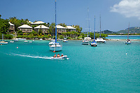 Looking across Cruz Bay Harbor<br />