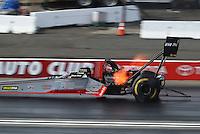 Nov 12, 2016; Pomona, CA, USA; NHRA top fuel driver Shawn Reed during qualifying for the Auto Club Finals at Auto Club Raceway at Pomona. Mandatory Credit: Mark J. Rebilas-USA TODAY Sports