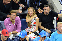 FLUSHING NY- SEPTEMBER 06: Jelena Djokovic is seen watching Novak Djokovic Vs Jo Wilfred Tsonga on Arthur Ashe Stadium at the USTA Billie Jean King National Tennis Center on September 6, 2016 in Flushing Queens. Credit: mpi04/MediaPunch