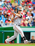 1 May 2011: San Francisco Giants infielder Mike Fontenot in action against the Washington Nationals at Nationals Park in Washington, District of Columbia. The Nationals defeated the Giants 5-2. Mandatory Credit: Ed Wolfstein Photo
