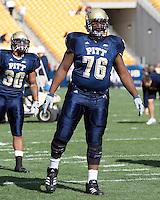 20 October 2007: Pitt offensive tackle Jeff Otah..The Pitt Panthers defeated the Cincinnati Bearcats 24-17 on October 20, 2007 at Heinz Field, Pittsburgh, Pennsylvania.