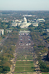 Aerial view of the Rally to Restore Sanity and/or Fear from the top of the Washington Monument.