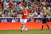 Dimitar Berbatov (9) of Manchester United. Manchester United defeated the MLS All-Stars 4-0 during the MLS ALL-Star game at Red Bull Arena in Harrison, NJ, on July 27, 2011.