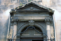 Sir Christopher Wren: Detail of door in London.