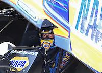 Jun 6, 2016; Epping , NH, USA; NHRA funny car driver Ron Capps during the New England Nationals at New England Dragway. Mandatory Credit: Mark J. Rebilas-USA TODAY Sports