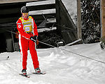 19 January 2008: Jacqui Cooper from Australia rides the tow-lift prior to the Qualification Round of the FIS World Cup Freestyle Ladies' Aerial competition at the MacKenzie Ski Jump Complex in Lake Placid, New York, USA. Cooper, the World Cup Leader, finished first in both the Qualification Round and the Finals to take the gold medal...Mandatory Photo Credit: Ed Wolfstein Photo
