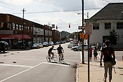 Bicycles were the transportation of choice for many Hopscotch fans, Friday, September 7, 2012