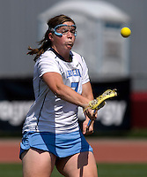 Corey Donohoe (7) takes a shot during the ACC women's lacrosse tournament semifinals in College Park, MD.  North Carolina defeated Duke, 14-4.