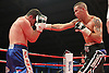 Travis Dickinson vs Jevgenijs Andrejevs in a boxing contest at the Aintree Equestrian Centre, Liverpool, promoted by Frank Maloney - 19/05/12 -