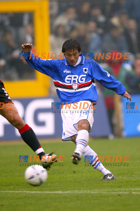 Genova 26/10/2003 <br /> Sampdoria Milan 0-3 <br /> Atsushi Yanagisawa (Sampdoria) <br /> Foto Andrea Staccioli / Insidefoto