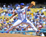 24 July 2011: Los Angeles Dodgers pitcher Kenley Jansen on the mound against the Washington Nationals at Dodger Stadium in Los Angeles, California. The Dodgers defeated the Nationals 3-1 to take the rubber match of their three game series. Mandatory Credit: Ed Wolfstein Photo