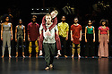 "National Youth Dance Company in dress rehearsal for the premiere of ""In-Nocentes"" at Sadler's Wells. Choreographed by Michael Keegan-Dolan, Artistic Director for NYDC for 2015 - 2016, with lighting design by Peter Harrison, set and costume design by Laura Hopkins. NYDC is touring the work from 26 June – 23 July 2016. The dancers are: Monique Ademilola, Jasmine Bayes, Tomas Brennan, Jamie Buchanan, Arthur Clayton, Isis Clunie, Olivia Doyle, Lucia Fortune-Ely, Christian Griffin, Bar Groisman, Rachael Harrison, Alex Henderson, Amie Hibbert, Christopher Hicks, Tommy Hodgkins, Noga Inspector, Taitlyn Jaiyeola, Kaylee Jaiyeola, Ethan Joseph, Niamh Keeling, Rose Lewis, Blue Makwana, Dominic McAinsh, Iona McGuire, Kennedy Muntanga, Daniel Nattrass, Jessica Nixon, Jasmine Norton, Ethan Nott, Chris Pilbeam, David Prempeh, Jackson Shallcross-Platt, Kia Skilbeck, Ben Todd-Jones, Tre Usoro-Williams, Chad Wakefield, Molly Walker, John-William Watson, George Williams, Hallam Wood. Picture shows: Chris Hicks, Chad Williams."
