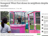 Madison resident Tamaya Travis dunks Police Chief Mike Koval at West Fest in Elver Park on Saturday | Wisconsin State Journal Article on front page of Sunday LOCAL & STATE and online at http://host.madison.com/wsj/news/local/inaugural-west-fest-draws-in-neighbors-despite-rainy-weather/article_38a101a8-bea3-5657-b269-39a8e08f72af.html
