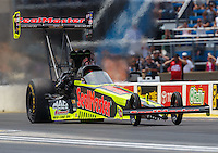 Jul 10, 2016; Joliet, IL, USA; NHRA top fuel driver J.R. Todd during the Route 66 Nationals at Route 66 Raceway. Mandatory Credit: Mark J. Rebilas-USA TODAY Sports