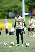 Prior to playing Manchester City in a friendly game at Busch Stadium, home of the St Louis Cardinals baseball team, Chelsea held a closed practice at Robert R Hermann Stadium on the campus of Saint Louis University..Petr Cech.