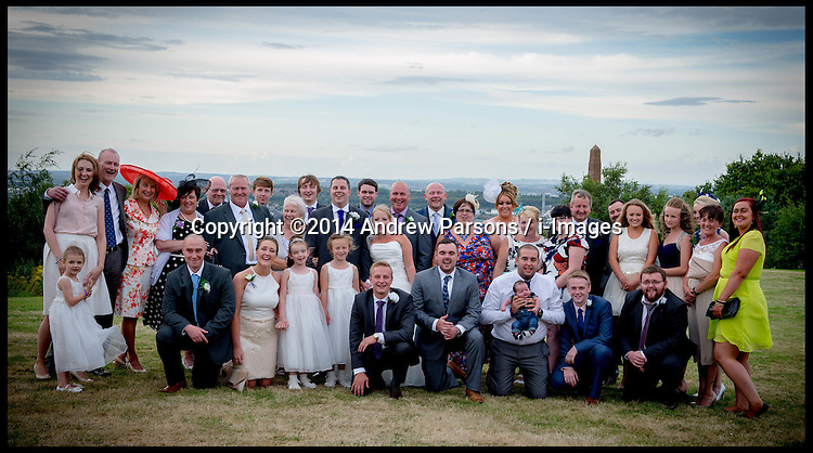 ©Licensed to i-Images Picture Agency. 09/08/2014. Widnes, United Kingdom. Jenny and Andy's wedding Picture by Andrew Parsons / i-Images