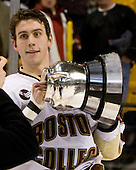 Kyle Kucharski (BC 18) - The Boston College Eagles defeated the Harvard University Crimson 6-5 in overtime on Monday, February 11, 2008, to win the 2008 Beanpot at the TD Banknorth Garden in Boston, Massachusetts.