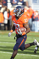 Nov 13, 2010; Charlottesville, VA, USA; Virginia Cavaliers running back Perry Jones (33) during the game against the Maryland Terrapins at Scott Stadium. Maryland won 42-23.  Mandatory Credit: Andrew Shurtleff