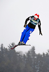 16 January 2009: Evelyne Leu from Switzerland performs aerial acrobatics during the FIS Freestyle World Cup warm-ups at the Olympic Ski Jumping Facility in Lake Placid, NY, USA. Mandatory Photo Credit: Ed Wolfstein Photo. Contact: Ed Wolfstein, Burlington, Vermont, USA. Telephone 802-864-8334. e-mail: ed@wolfstein.net