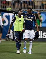 John Obi Mikel, Eddie Johnson.  The MLS All-Stars defeated Chelsea, 3-2.