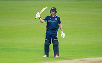 Picture by Allan McKenzie/SWpix.com - 16/05/2017 - Cricket - Royal London One-Day Cup - Yorkshire County Cricket Club v Leicestershire County Cricket Club - Headingley Cricket Ground, Leeds, England - Yorkshire's Gary Ballance celebrates his half century against Leicestershire.