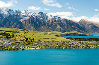 Queenstown and Lake Wakatipu, Central Otago, South Island, New Zealand, NZ