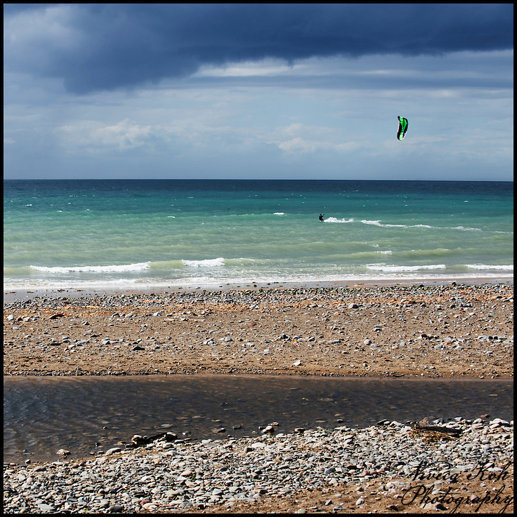 Kite surfer on the sea
