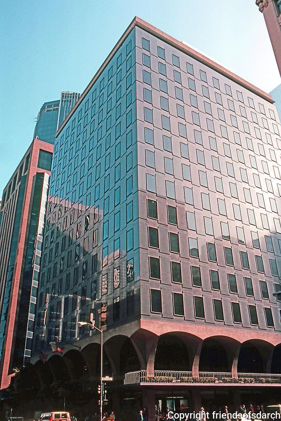 San Francisco:  Industrial Indemnity Building (originally John Hancock), 1959. Skidmore, Owings & Merrill. (Just before high rise explosion.) Photo '83.