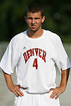 04 September 2009: Denver's Michael Perry. The North Carolina State University Wolfpack defeated the University of Denver Pioneers 4-0 at Koskinen Stadium in Durham, North Carolina in an NCAA Division I Men's college soccer game.