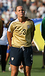 14 July 2007: United States' Christie Rampone, wearing the brand new gold U.S. Womens World Cup jersey. The United States Women's National Team defeated their counterparts from Norway 1-0 at Rentschler Stadium in East Hartford, Connecticut in a women's international friendly soccer game.