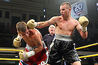 Kevin McIntyre defeats John Wayne Hibbert in Quarter-Final 1 of Prizefighter The Welterweights II at York Hall, promoted by Matchroom Sports - 07/06/11 - MANDATORY CREDIT: Gavin Ellis/TGSPHOTO - Self billing applies where appropriate - Tel: 0845 094 6026