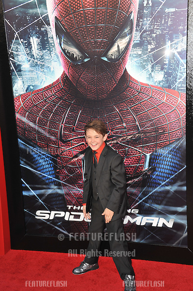 """Max Charles at the world premiere of his movie """"The Amazing Spider-Man"""" at Regency Village Theatre, Westwood..June 29, 2012  Los Angeles, CA.Picture: Paul Smith / Featureflash"""