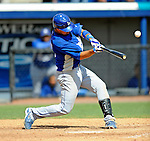 15 March 2008: Los Angeles Dodgers' outfielder Jason Repko in action during a Spring Training game against the Washington Nationals at Space Coast Stadium, in Viera, Florida...Mandatory Photo Credit: Ed Wolfstein Photo