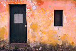 An old wall with distressed paint
