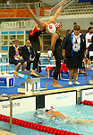 women canadian team, freestyle relay,4x100m they won the silver.<br /> Stephanie Dixon, (top)Andrea Cole.<br /> (Benoit Pelosse photographe)