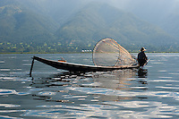 Traditional Burmese fisherman on Inle Lake