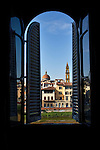 Photo of the view from a window in Florence, Italy.