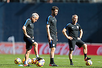 San Diego, CA - Sunday January 29, 2017: Dave Sarachan, Pat Noonan, Richie Williams prior to an international friendly between the men's national teams of the United States (USA) and Serbia (SRB) at Qualcomm Stadium.