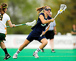 1 May 2010: University of New Hampshire Wildcat midfielder Erin Levesque, a Sophomore from Duxbury, MA, in action against the University of Vermont Catamounts at Moulton Winder Field in Burlington, Vermont. The visiting Wildcats defeated the Lady Catamounts 18-10 in the last game of the 2010 regular season. Mandatory Photo Credit: Ed Wolfstein Photo