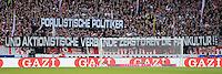 FUSSBALL   1. BUNDESLIGA  SAISON 2012/2013   9. Spieltag   VfB Stuttgart - Eintracht Frankfurt      28.10.2012 VfB Fans mit einem Banner; Populistische Politiker und aktionistische Verbaende zerstoeren die Fankultur!